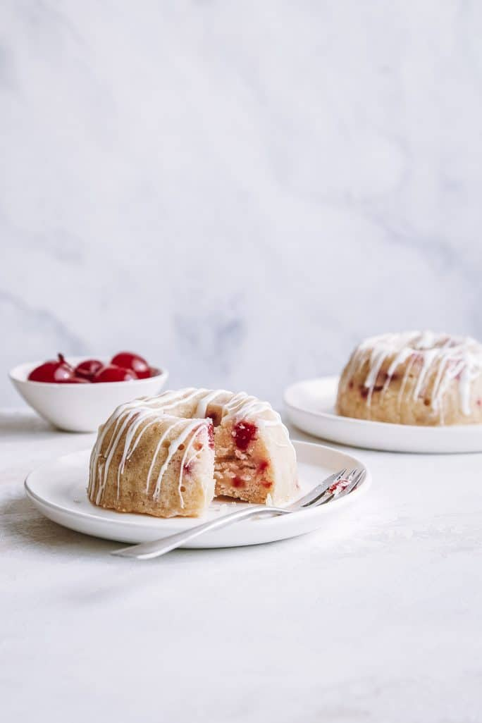 Mini White Chocolate Cherry Bundt Cake - The Electric Pressure Cooker Cookbook For Two