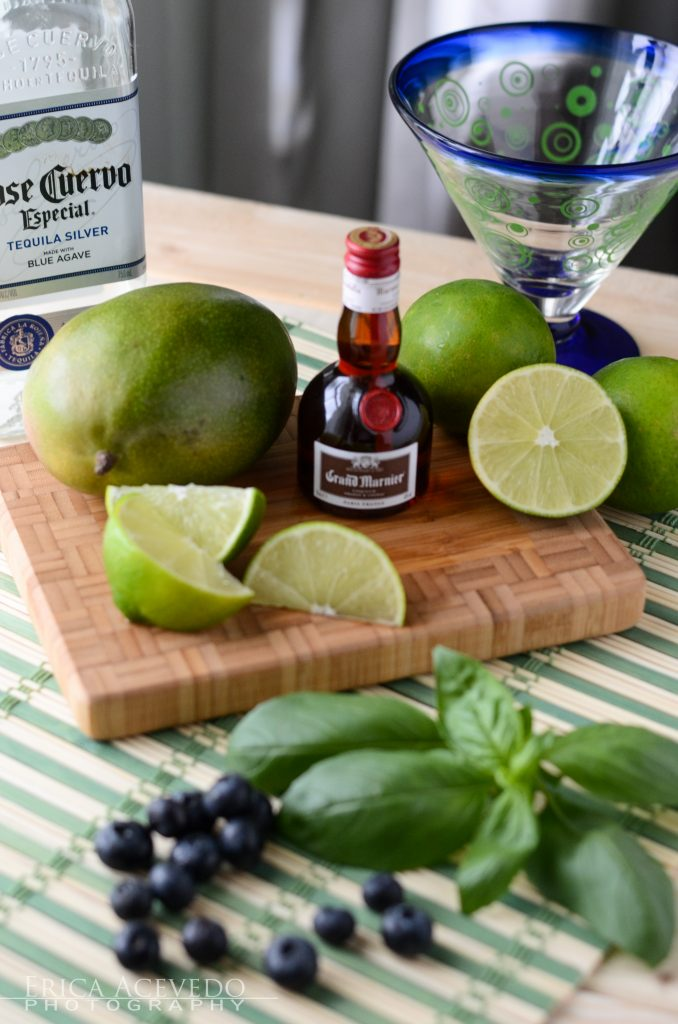Muddled Blueberry Mango Margarita Ingredients