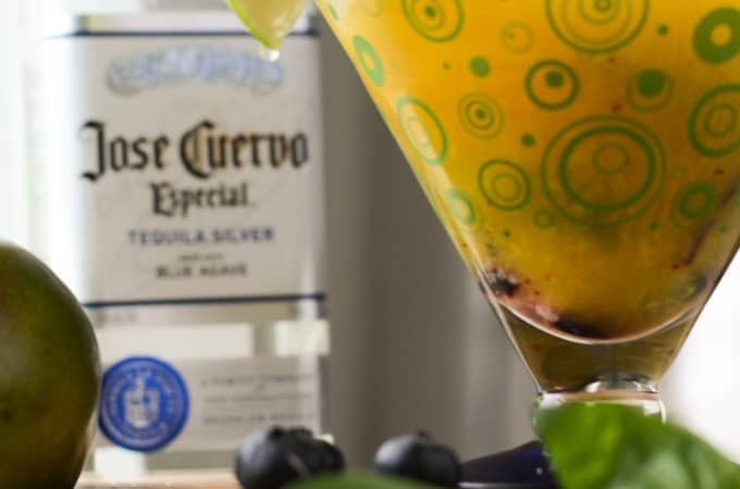Muddled Blueberry Mango Margarita