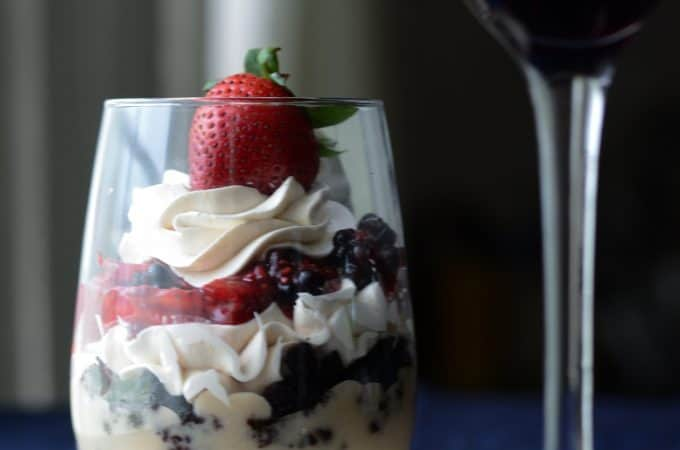 White Mocha-late Berry Mini Trifle