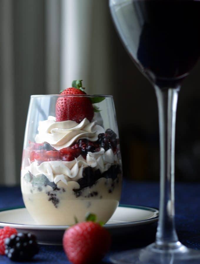 White Mocha-late Berry Mini Trifle