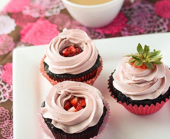 Chocolate Covered Strawberry Cupcake