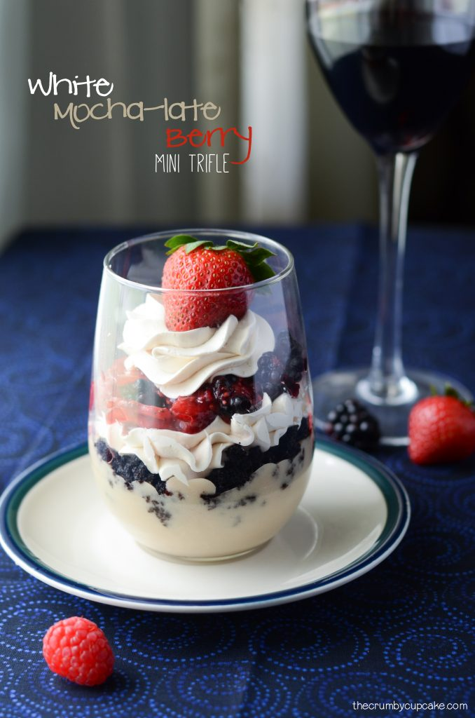 White Mocha-late Berry Mini Trifle Recipe