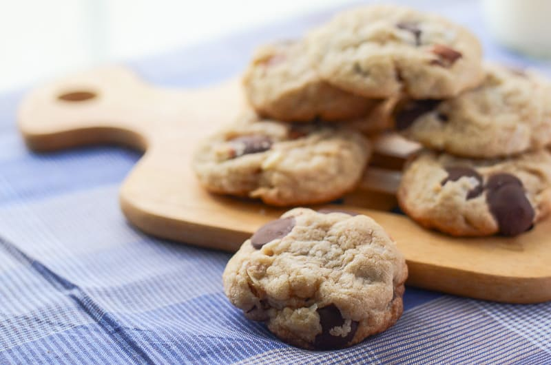 Coconut Almond Dark Chocolate Chip Cookies