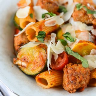 Summer Vegetable & Sausage Pasta