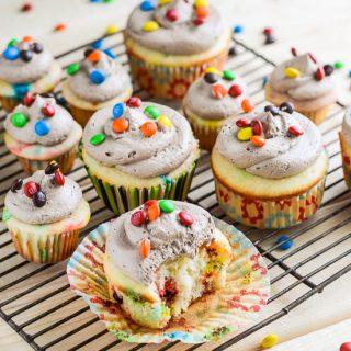 MnM Cupcakes