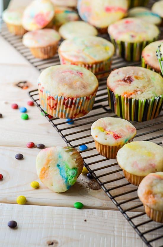 Easy M&M Cupcakes