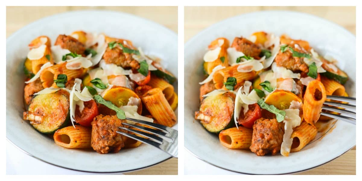 Summer Vegetable Sausage Pasta