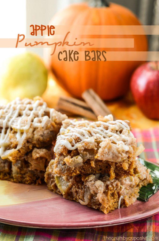 Apple Pumpkin Cake Bars
