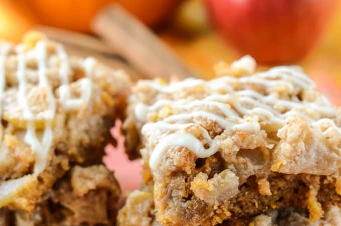 Apple Pumpkin Cake Bars