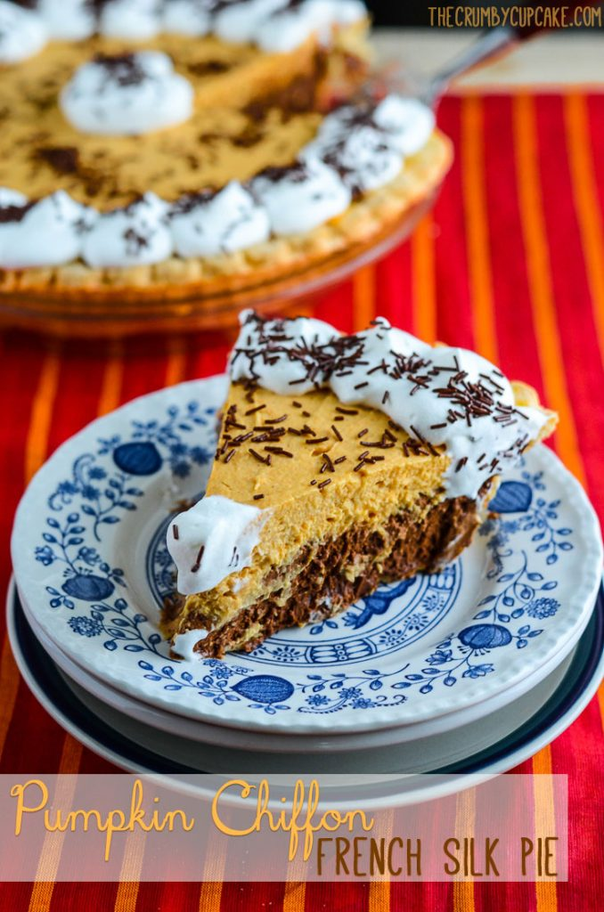 Pumpkin Chiffon French Silk Pie