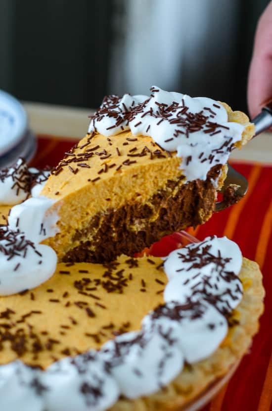 Pumpkin Chiffon French Silk Pie