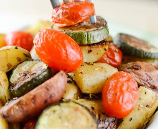 Garlic Herb Roasted Potato Salad