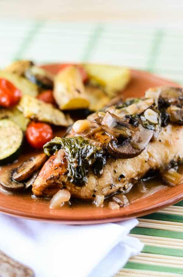 Mushroom-Stuffed Chicken With White Wine Sauce Recipe — Dishmaps