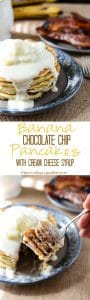 """Banana Chocolate Chip Pancakes 