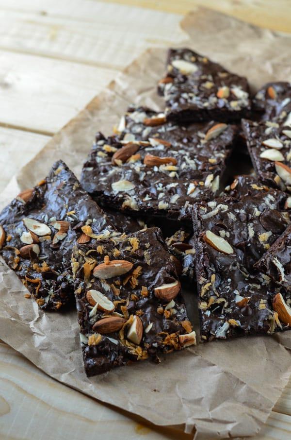 Coconut Almond Brownie Brittle