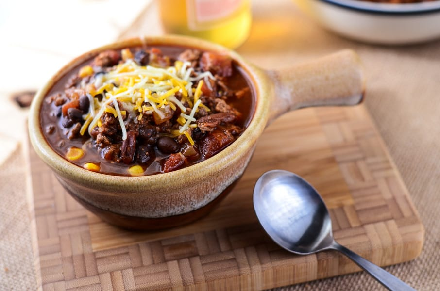 Crock Pot Mexican Beer Chili
