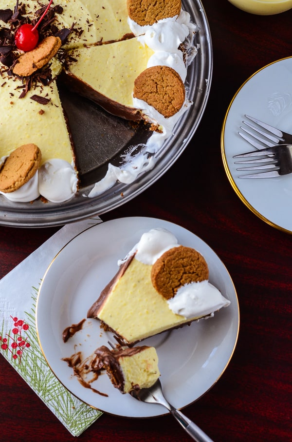Black Bottom Eggnog Pie
