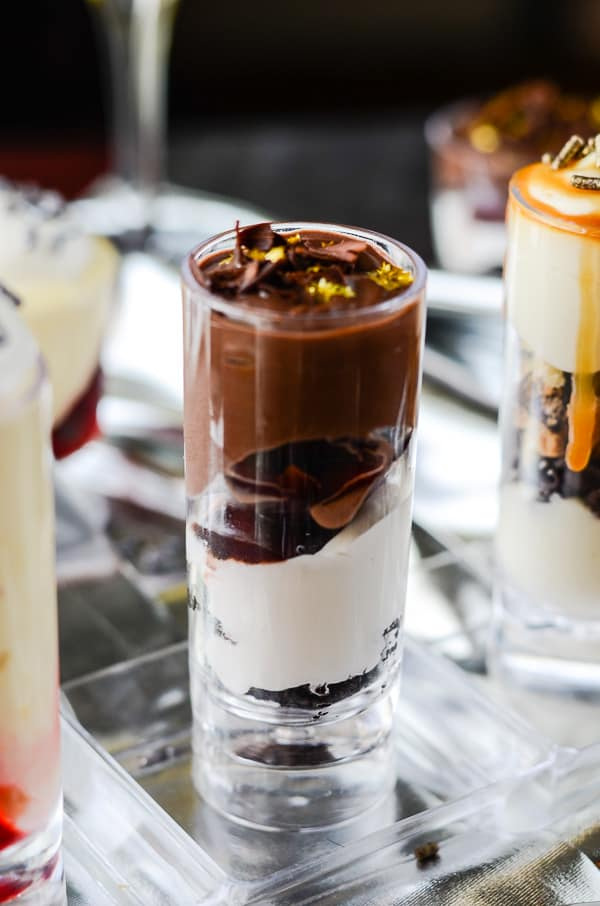 Dessert Shooter Trio | Black Forest Brownie Trifle