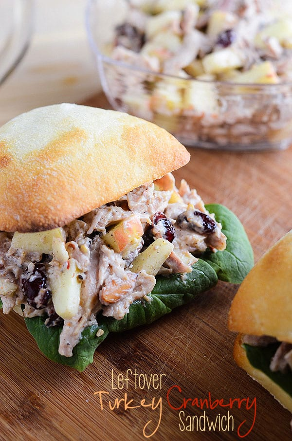 Leftover Turkey Cranberry Sandwich | via The Crumby Cupcake on MyCookingSpot.com
