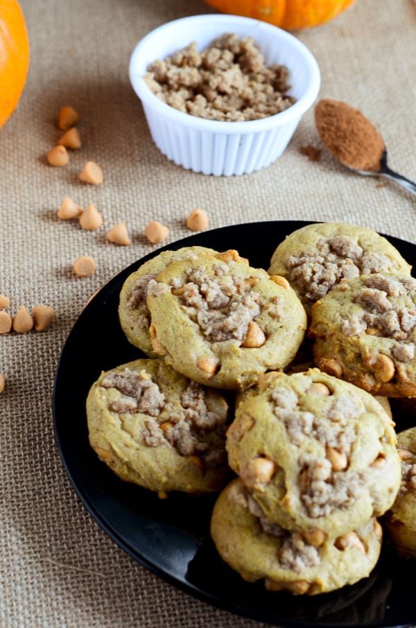 Pumpkin Butterscotch Streusel Cookies