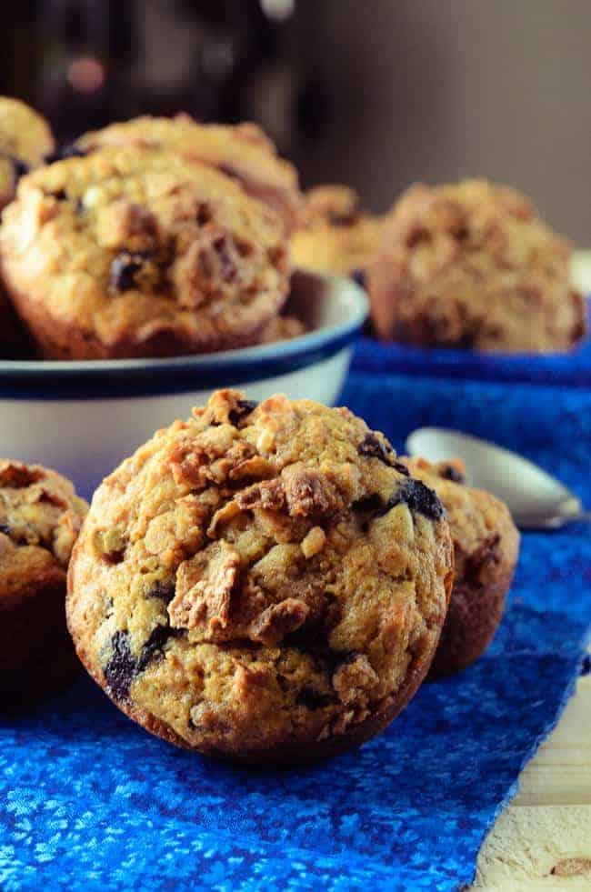 Blueberry Raisin Crunch Muffins