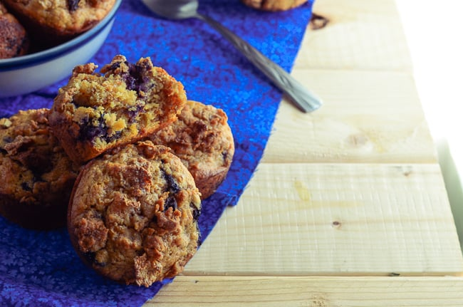 Blueberry Raisin Crunch Muffins