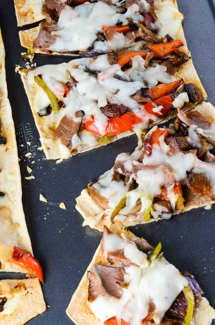 Cheesesteak Flatbread Pizza