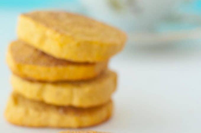 Gluten-free Sweet Potato Snickerdoodle Shortbread by Slim Pickin's Kitchen