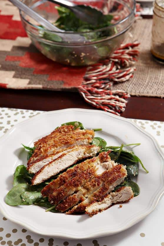 Crunchy Parmesan Chicken Salad  by The Speckled Palate