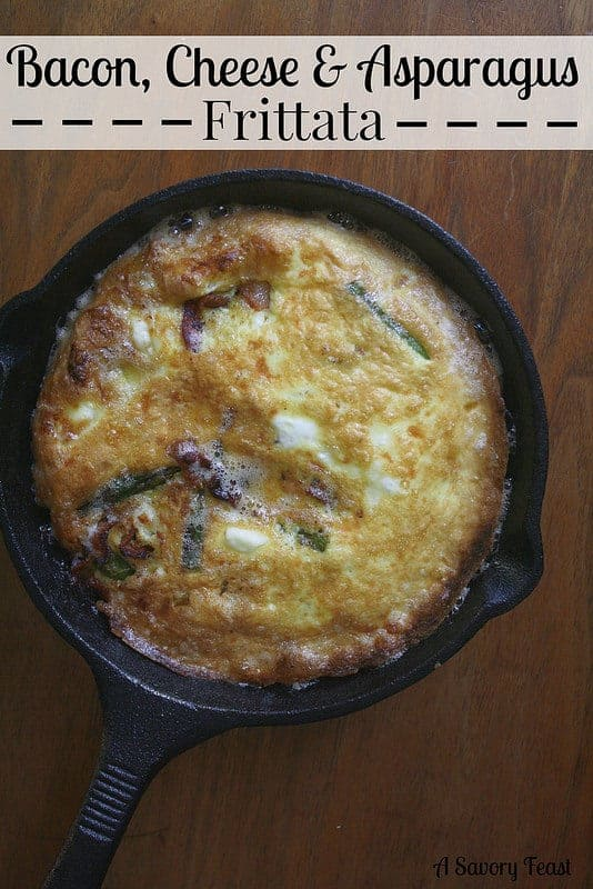 Bacon, Cheese & Asparagus Frittata