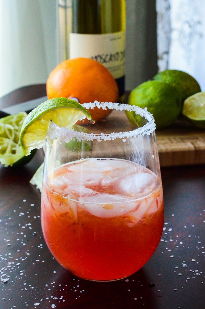Blood Orange Moscato Margarita