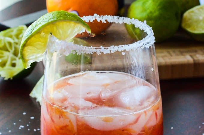 Blood Orange Moscato Margarita