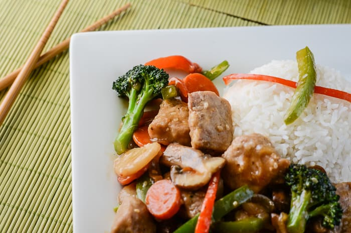Sesame Ginger Pork Stir Fry
