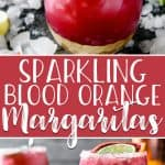 Some freshly squeezed OJ and a hearty splash of sparkling wine take a classic tequila drink to new heights in this Blood Orange Margarita! This gorgeous citrus is only available in the winter, so enjoy these cocktails while you can!
