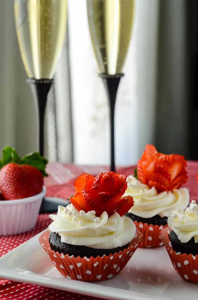 Champagne and Roses Cupcakes