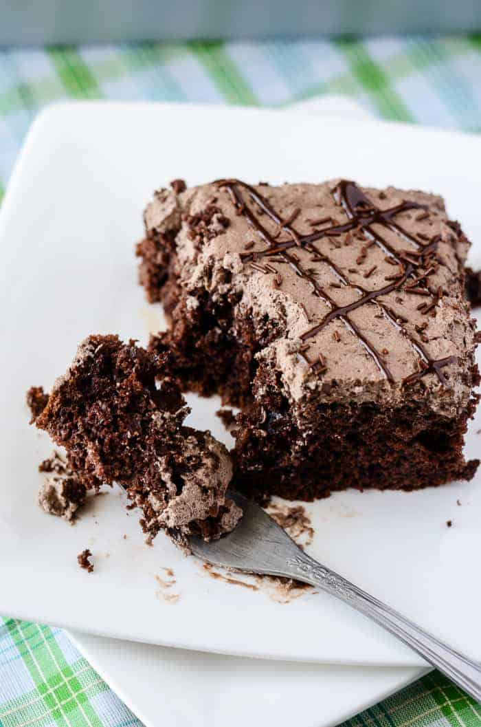 Death By Mocha Poke Cake