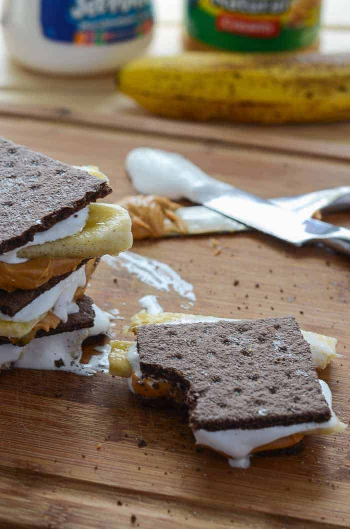 Easy Peanut Butter Banana S'mores