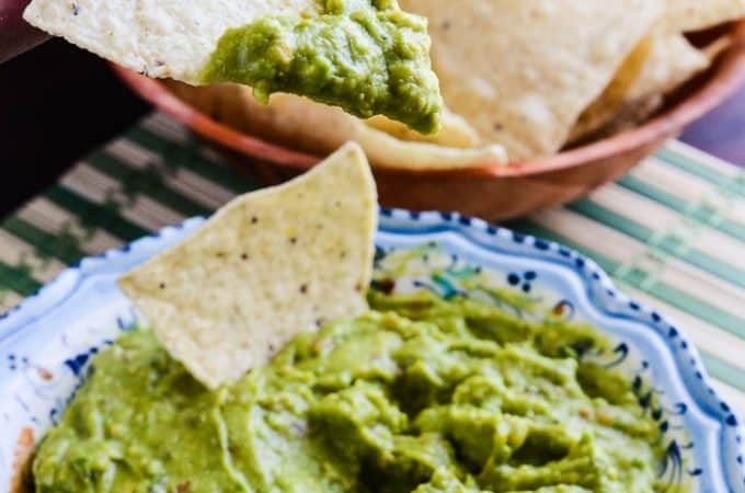Vegetables and spices are blended over heat before adding avocado, giving this guacamole a velvety smooth, yet chunky texture that's perfect for dipping!