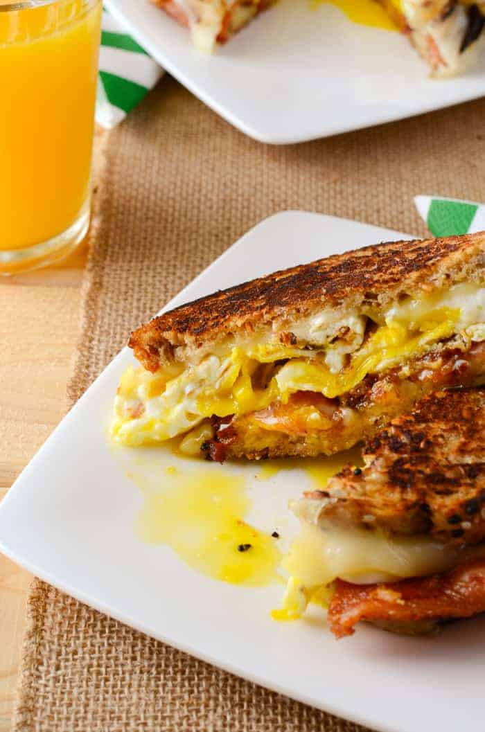 Havarti Breakfast Grilled Cheese Sandwich