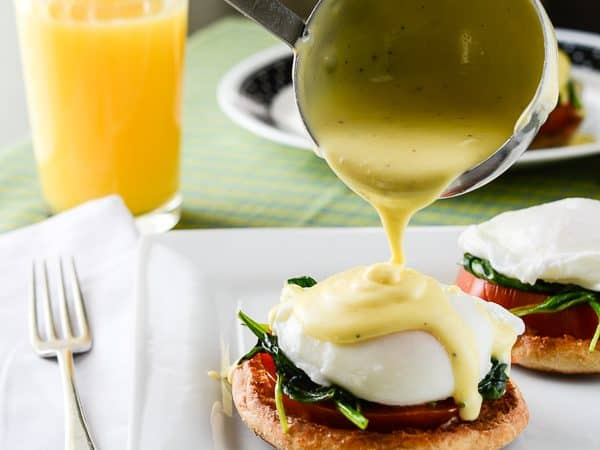 Tomato & Eggs Florentine with Homemade Hollandaise Sauce | Get the recipe at My Cooking Spot!