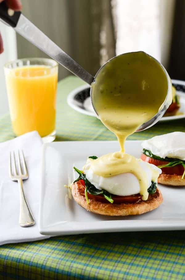 Tomato & Eggs Florentine with Homemade Hollandaise Sauce
