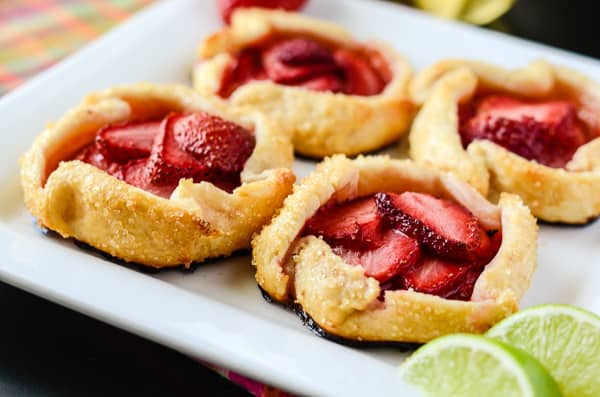 ... fresh vanilla lime-spiked strawberries, and are a great dessert even