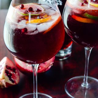 Pomegranate Summer Sangria with PAMA