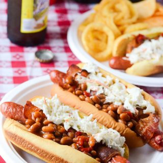 Bacon-Wrapped Summer BBQ Hot Dogs | Get the recipe at My Cooking Spot!