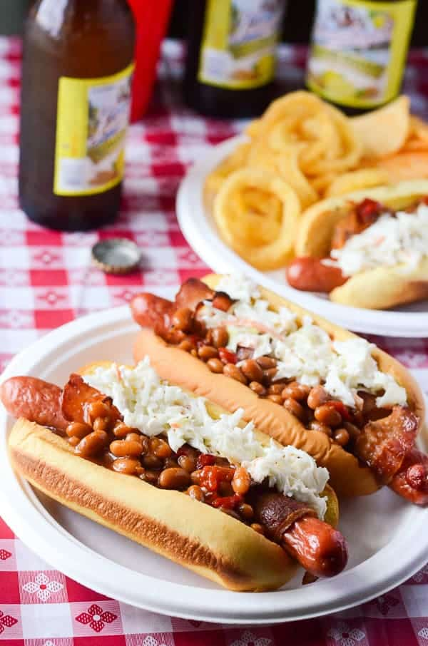 Bacon-Wrapped Summer BBQ Hot Dogs