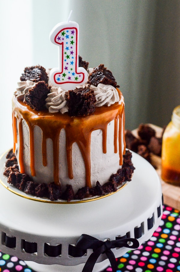 Dulce de Leche Brownie Ice Cream Cake - The Crumby Cupcake