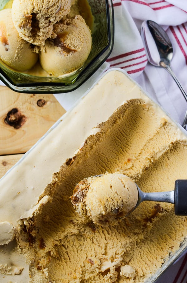 Dulce de Leche Ice Cream |  A homemade Latin American favorite! Creamy, smooth, sweet, and full of caramel...lots and lots of caramel!