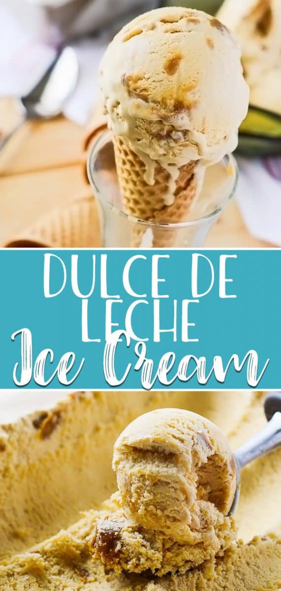 Dulce de Leche Ice Cream - a homemade Latin American favorite! Creamy, smooth, sweet, and full of caramel...lots and lots of caramel!