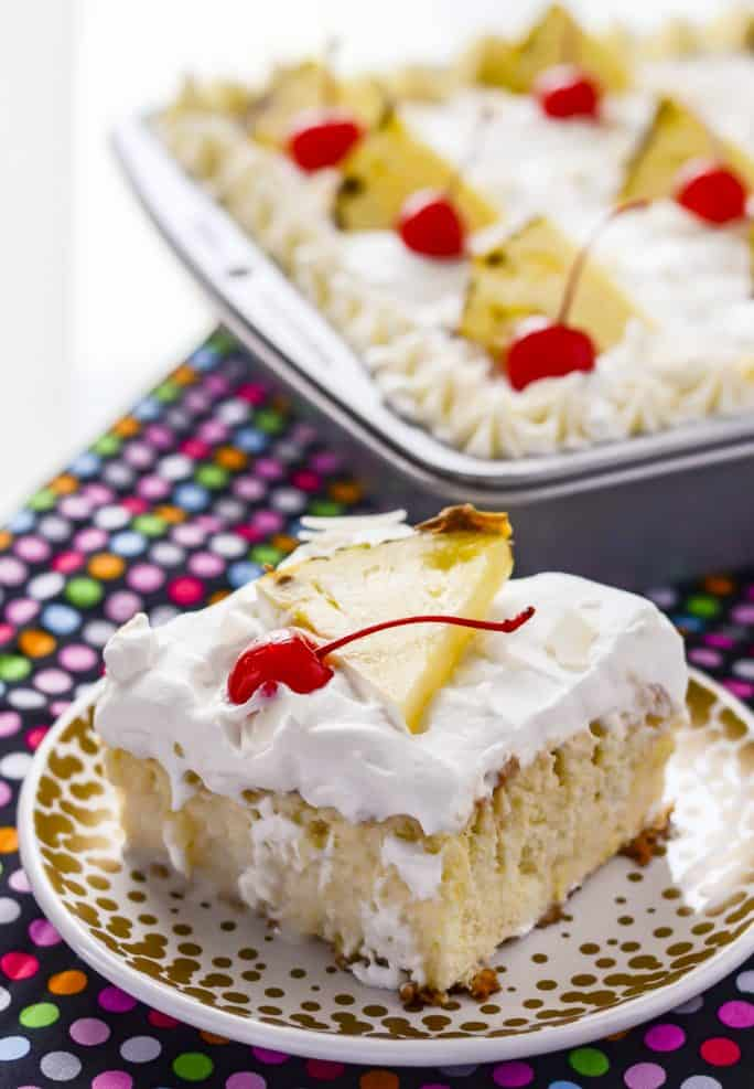 Pina Colada Tres Leches recipe
